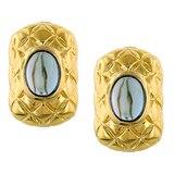 Sterling Silver Gold Plate London Blue Topaz Earrings