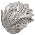 Sterling Silver Sparkle Leaf Design Ring