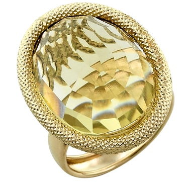 14K Yellow Gold Bold 20x15mm Preziosa Ring