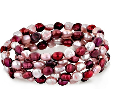 Set of 5 Freshwater Pearl Bracelets