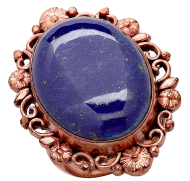 Himalayan Gems Gemstone Copper Ring