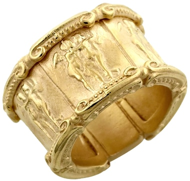 Bronze Medallion Ring